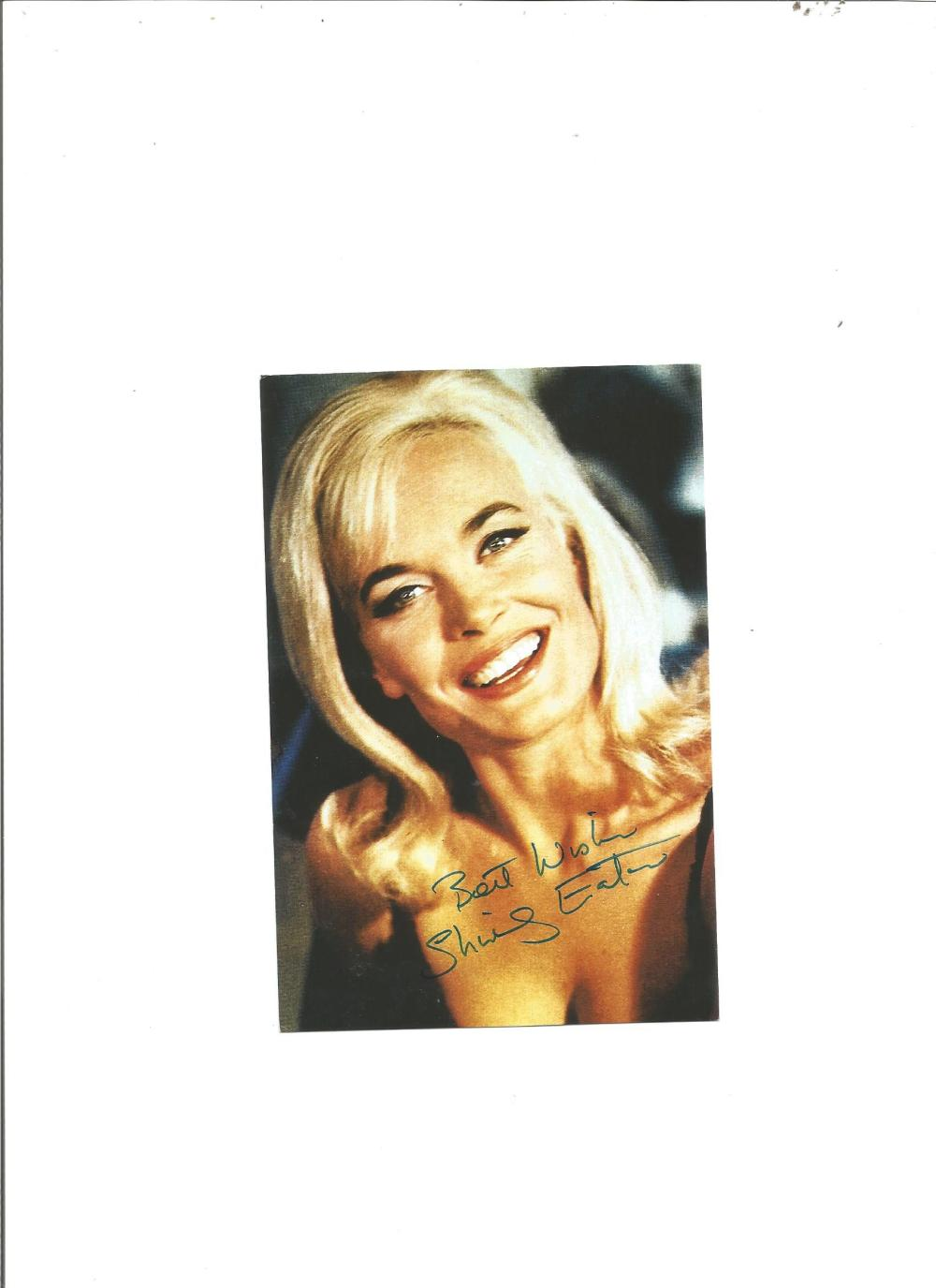Shirley Eaton signed 6x4 colour photo from Goldfinger. Good Condition. All signed pieces come with a