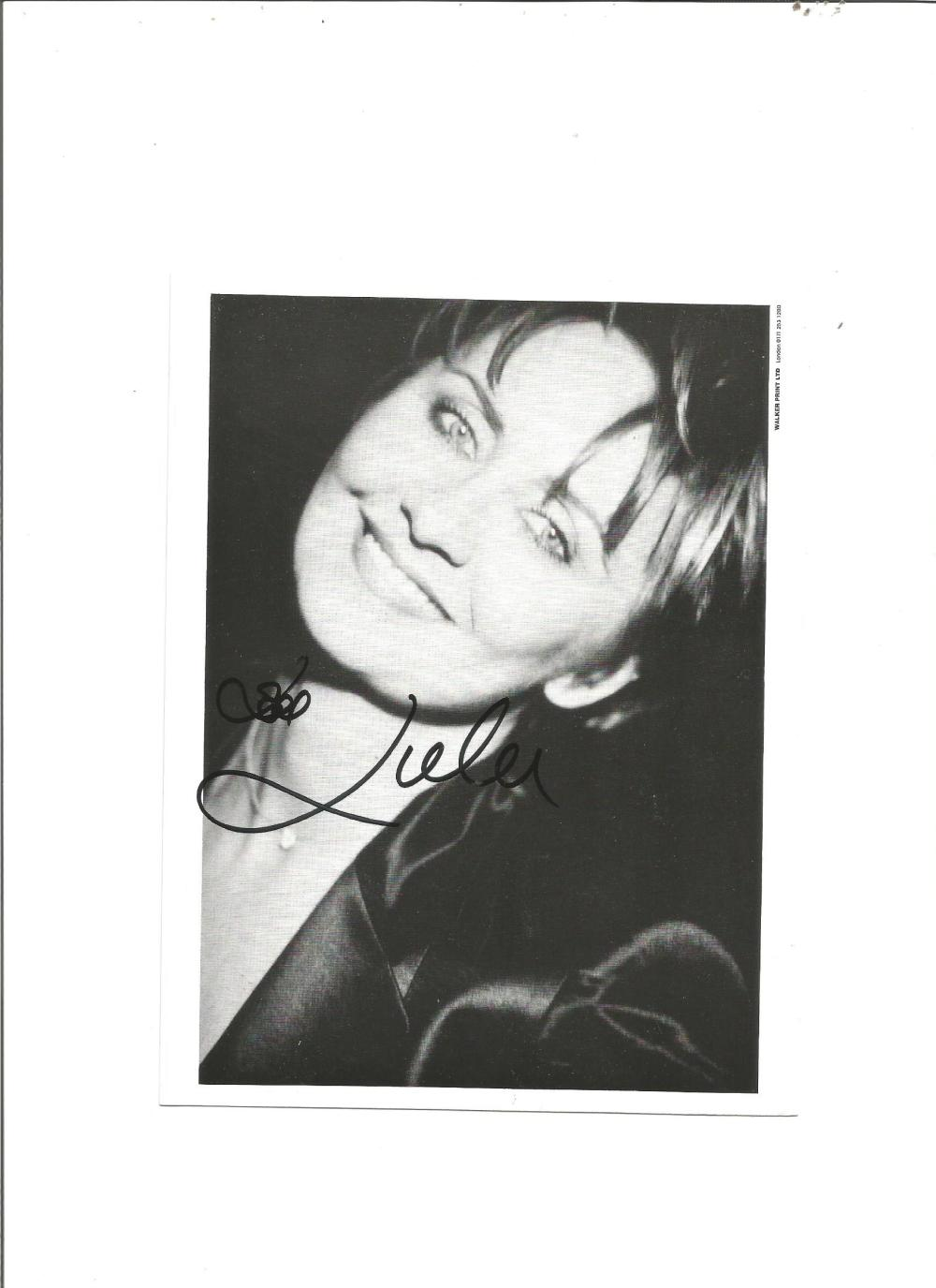 Lulu signed 7x5 b/w photo. Sang theme tune for The Man with the Golden Gun. Good Condition. All