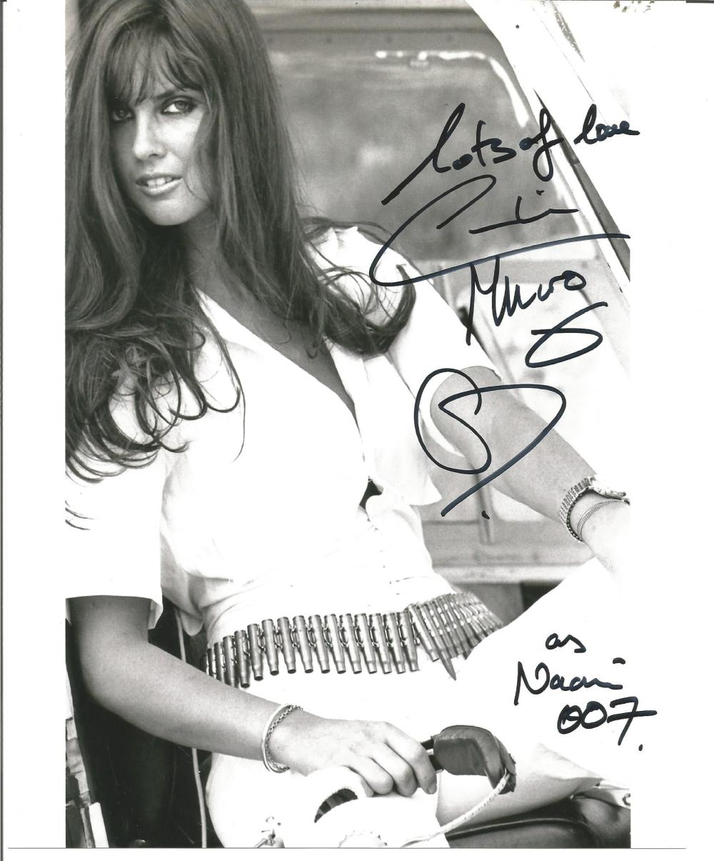 Caroline Munro signed 10x8 b/w photo from The Spy who loved me. Good Condition. All signed pieces