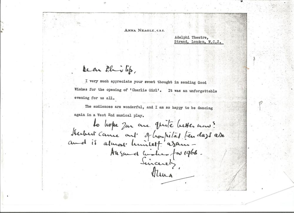 Photocopies of letters signed by Edward Heath and Anna Neagle. Good Condition. All signed pieces
