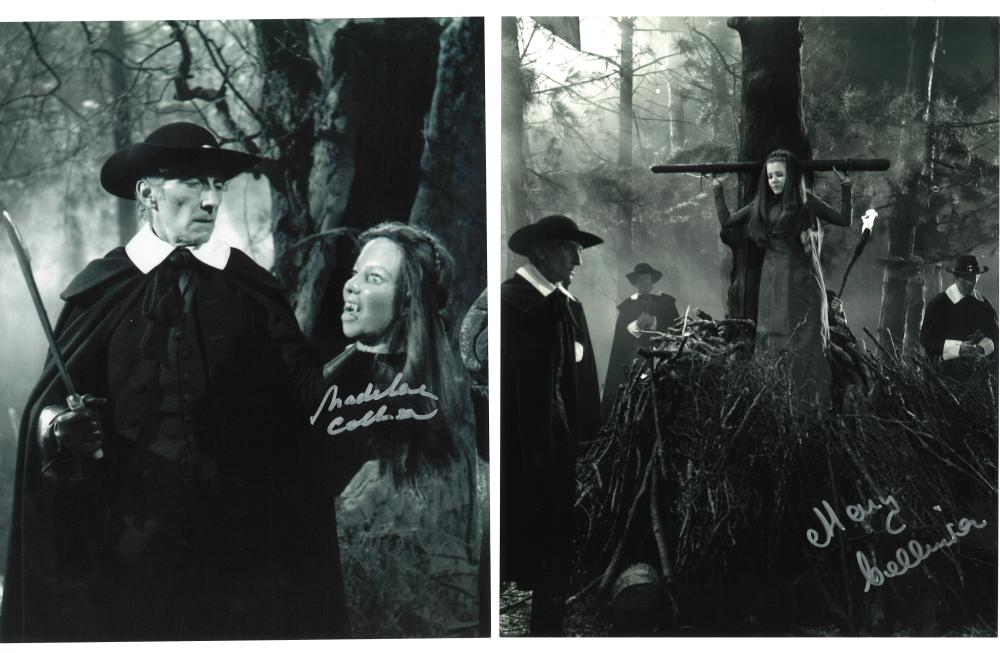 Lot of 2 Twins of Evil hand signed 10x8 photos. This beautiful set of 2 hand-signed photos are