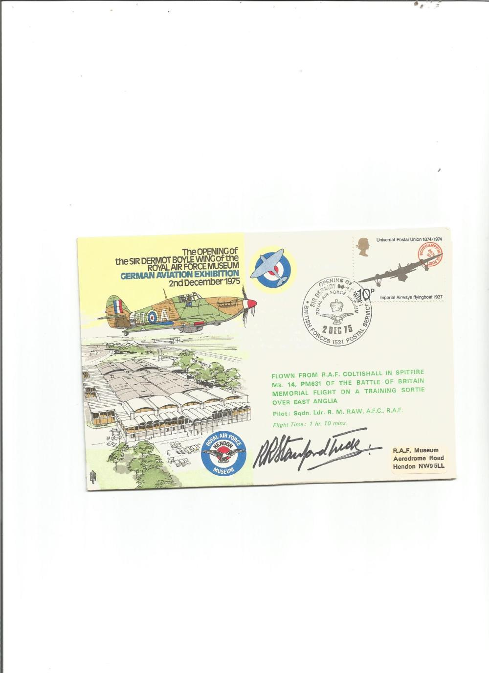 Wg Cdr Robert Stanford Tuck DSO DFC Battle of Britain fighter ace signed RAF Museum cover. Good
