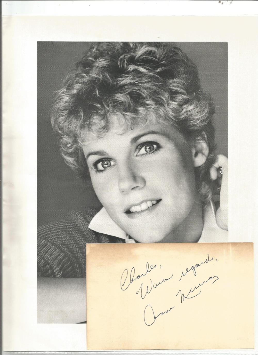 Ann Murray signed autograph album page top Charles with unsigned photo. Good Condition. All signed