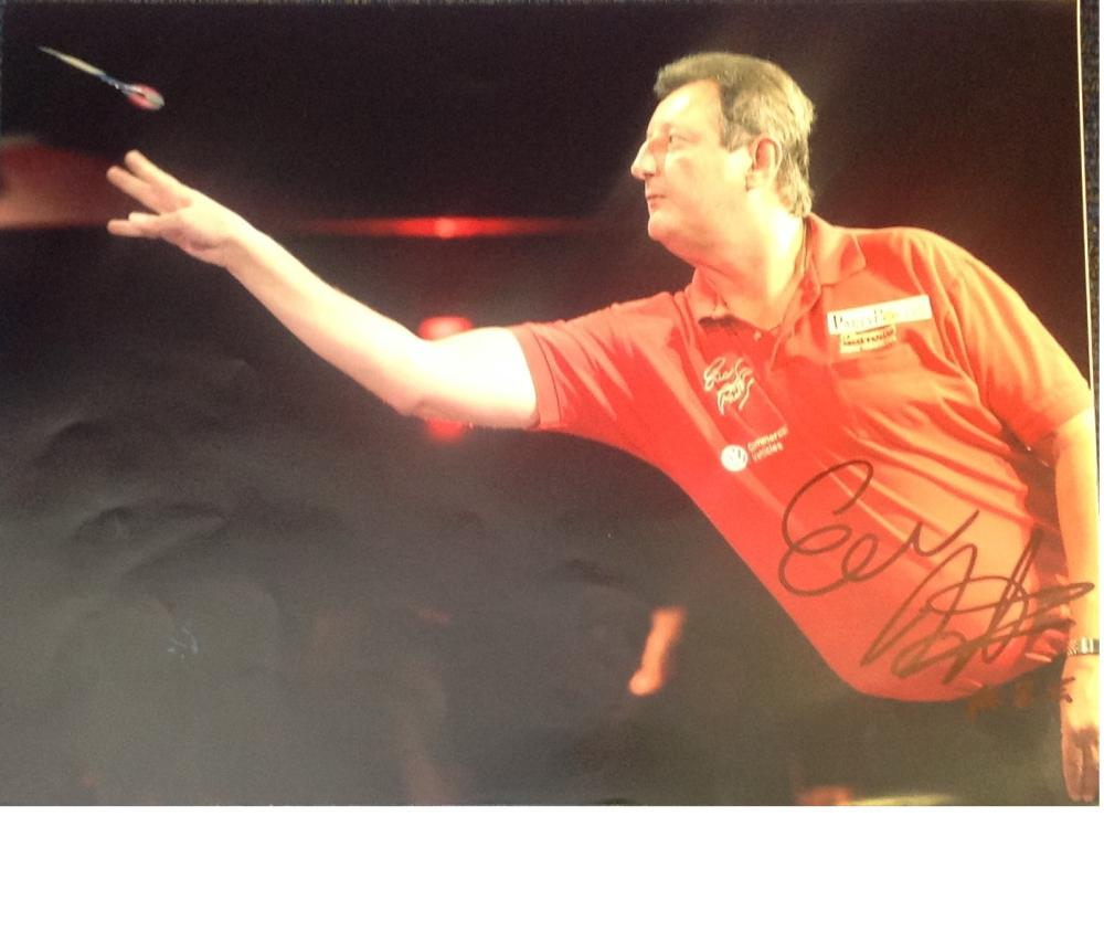 "Eric Bristow signed 16x12 colour photo. (25 April 1957 - 5 April 2018), nicknamed ""The Crafty"