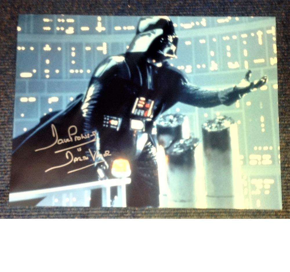Dave Prowse signed 16x12 colour Darth Vadar photo. Good Condition. All signed pieces come with a
