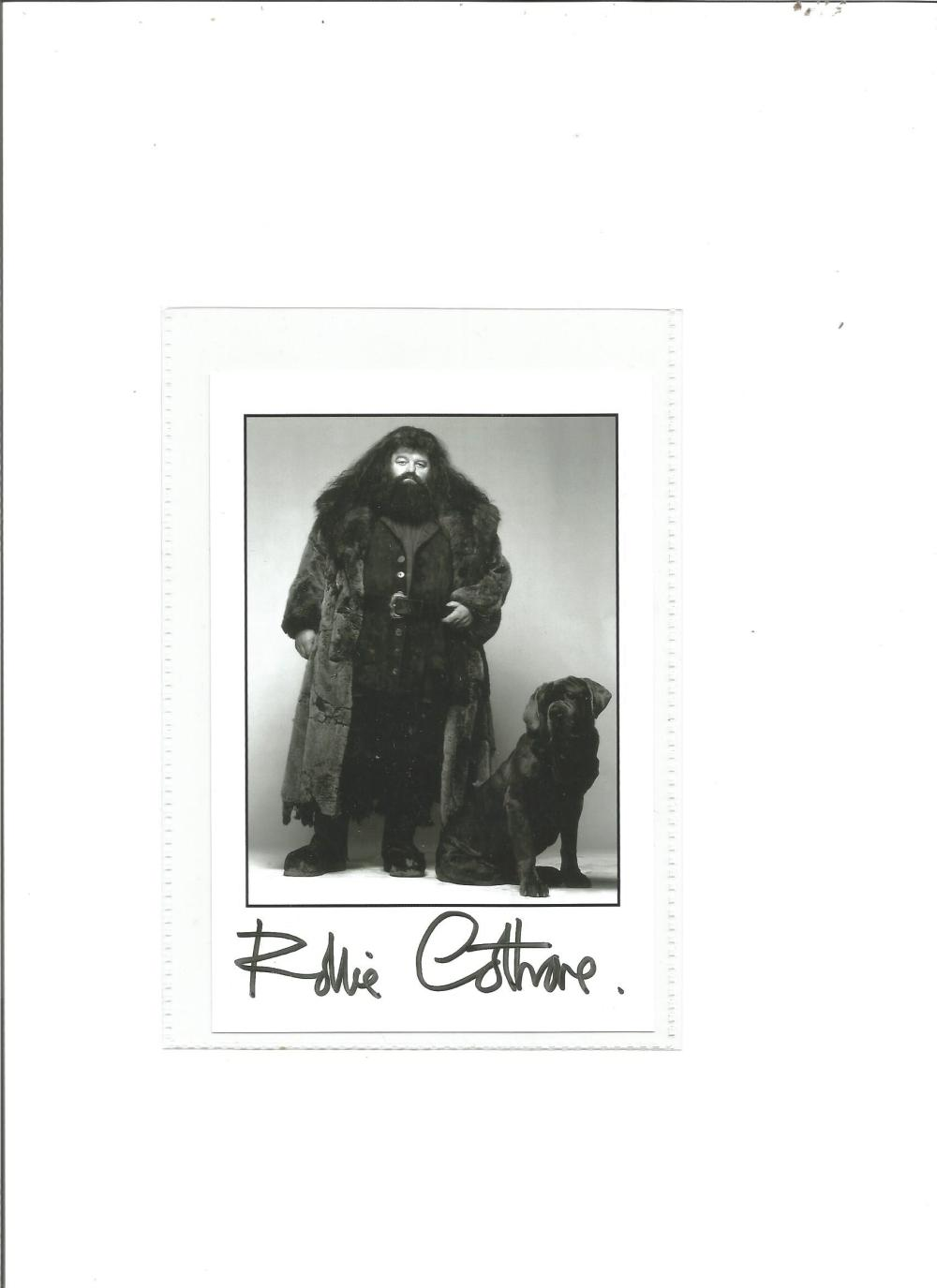 Robbie Coltrane signed 6x4 b/w photo as Hagrid in Harry Potter. Good Condition. All signed pieces