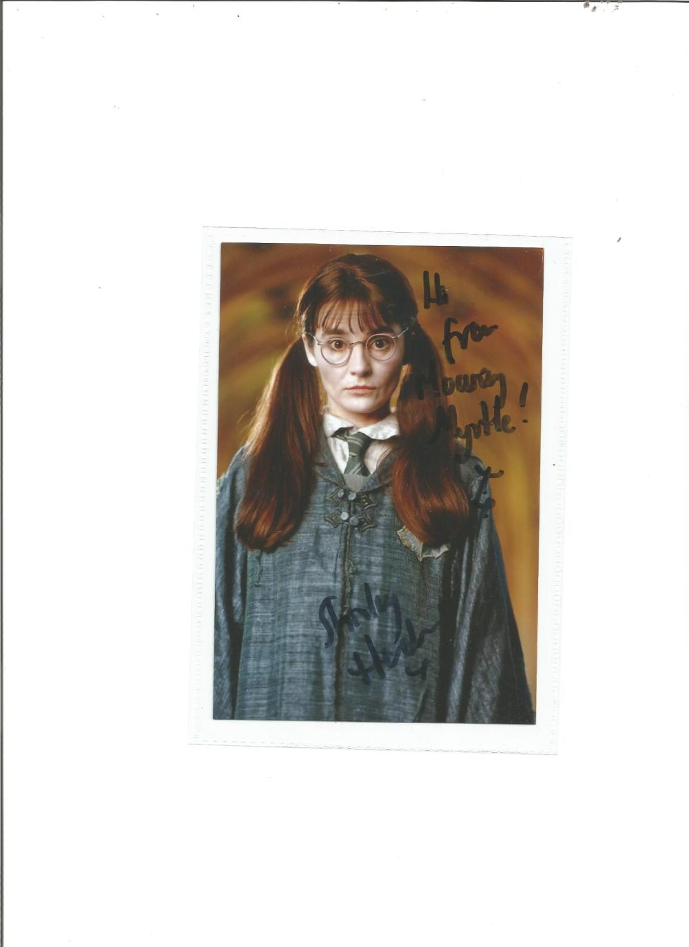 Shirley Henderson signed 6x4 colour photo as Moaning Myrtle in Harry Potter. Good Condition. All