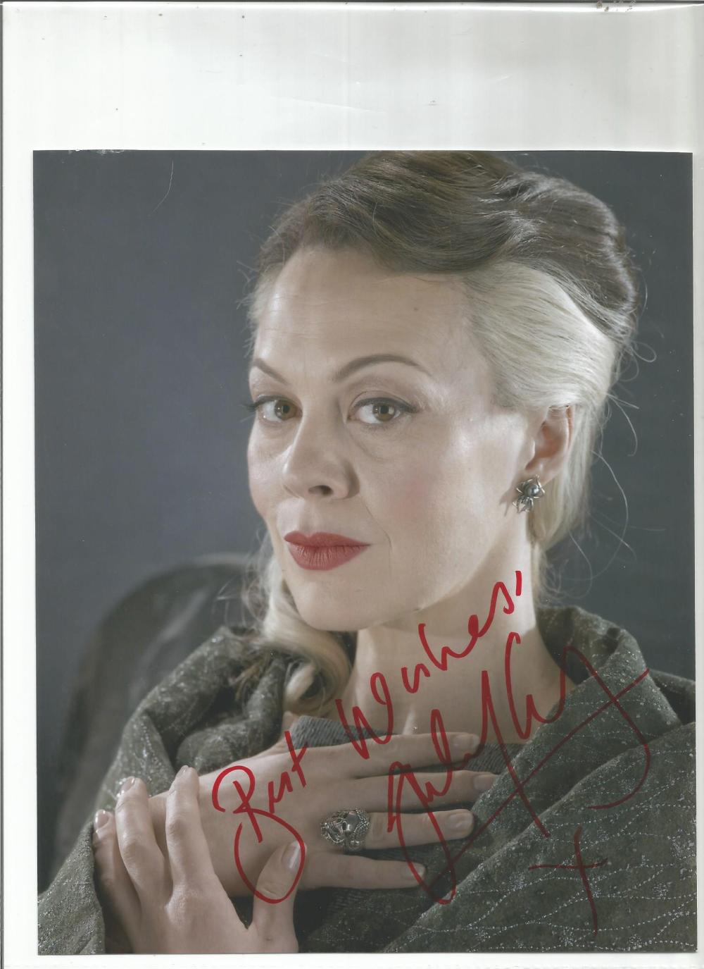 Helen McCrory signed 10x8 colour photo as Mrs Malfoy in Harry Potter. Good Condition. All signed