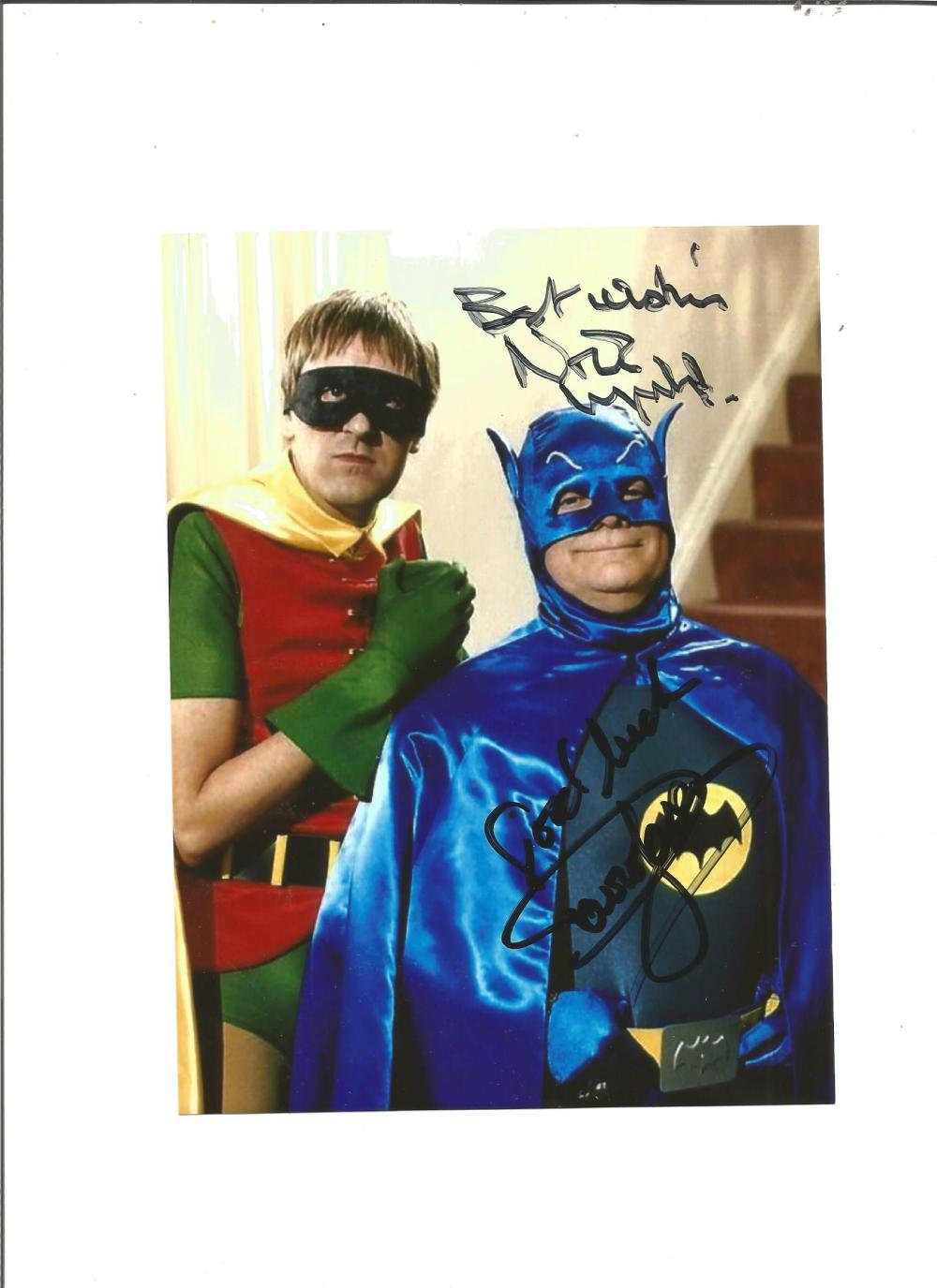Nicholas Lyndhurst and David Jason signed 7x5 colour photo from Only Fools and Horses as Batman