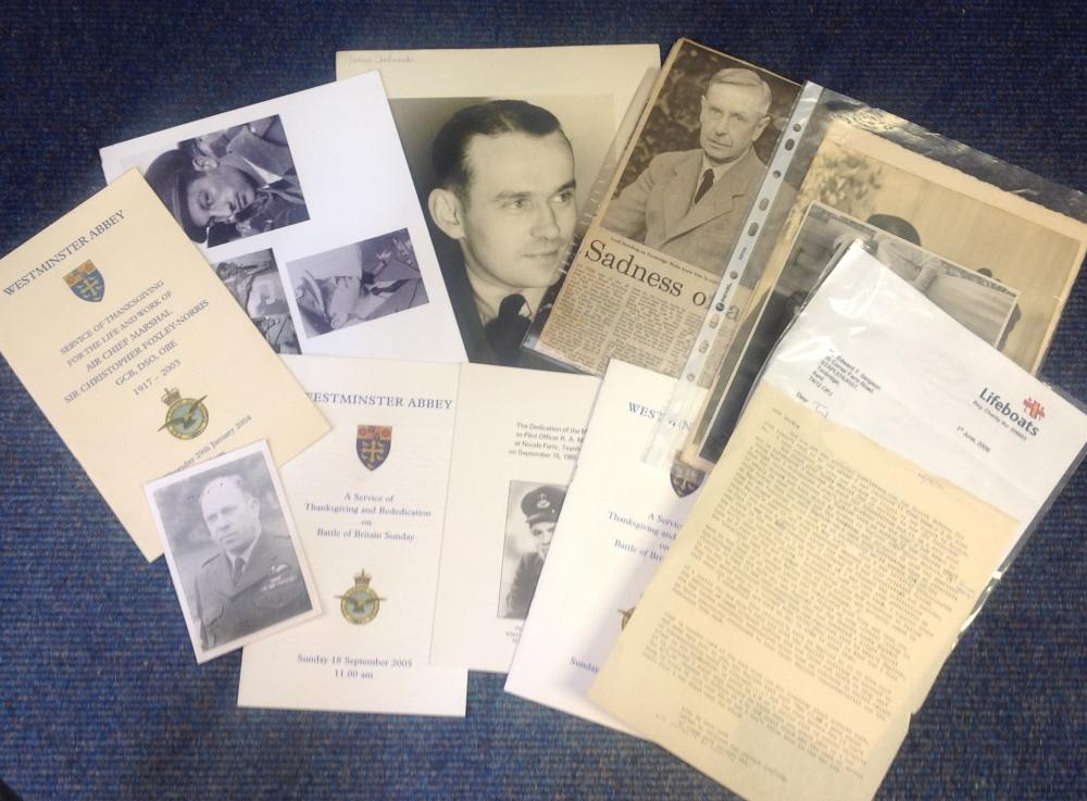 Battle of Britain ephemera collection from historian Ted Sergison collection. Big pile includes