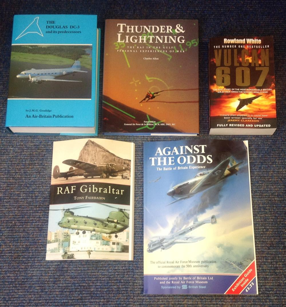 Aviation Book collection including six book titles. Titles included are Vulcan 607 paperback by