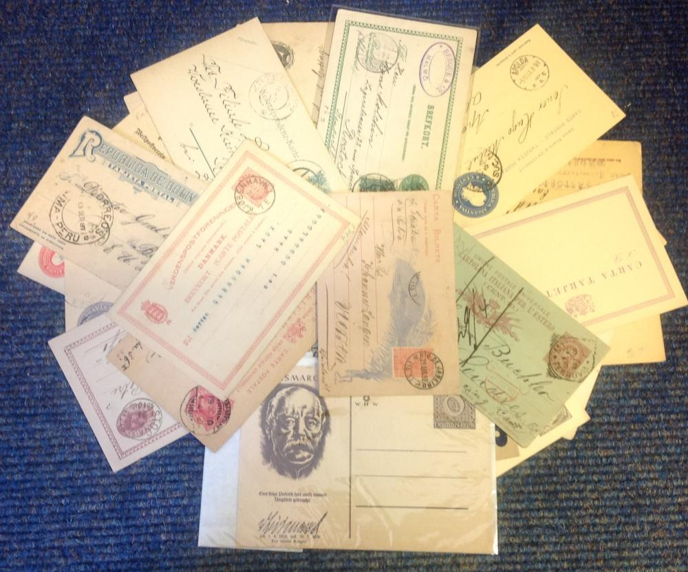 1800s, early 1900s worldwide postcard postal history collection. 29 items has many countries, Inc