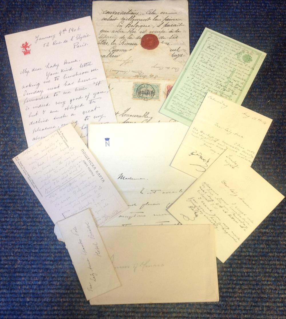 1900s Royalty collection of notes and letters many to Lady Chandos Pole. Good Condition. All