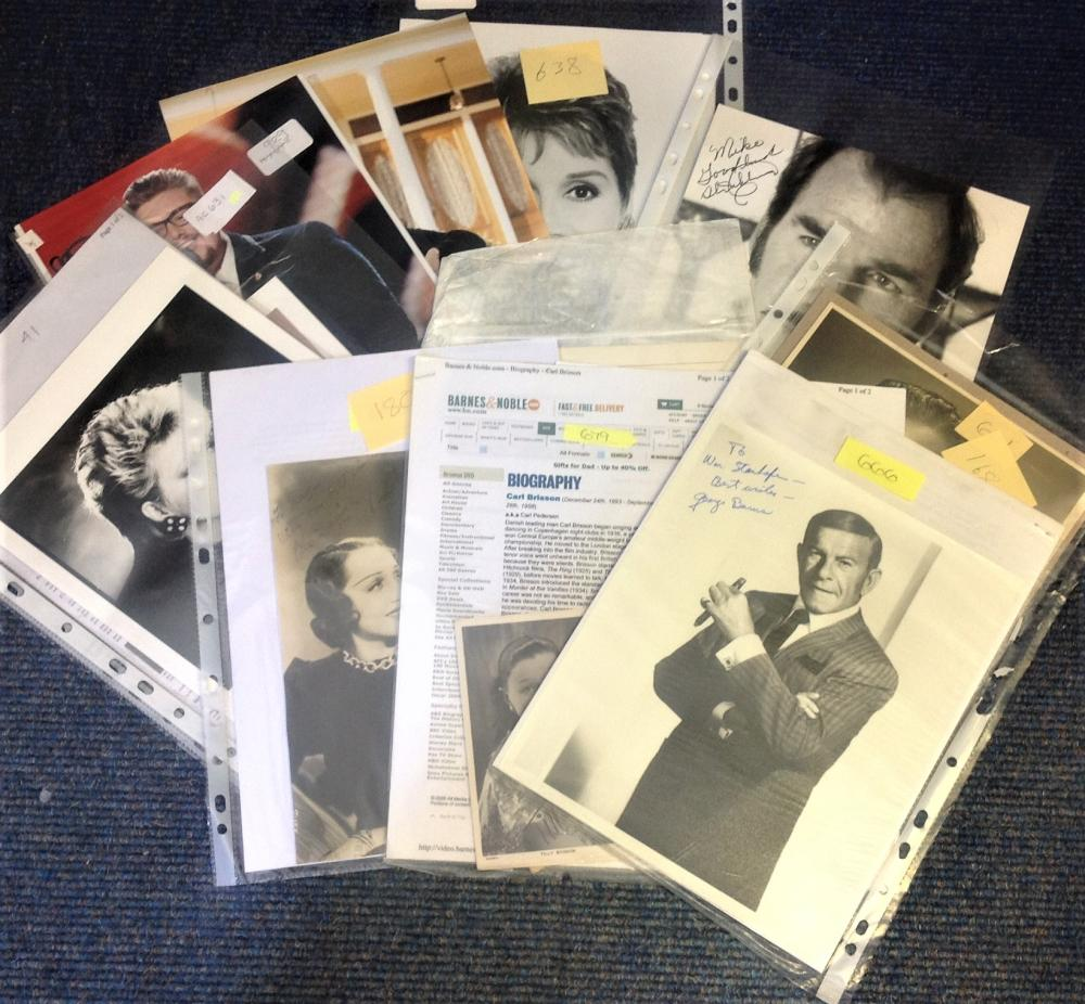 Assorted TV/Film/Music signed collection. 11 items assorted photos and signature pieces. Some may be