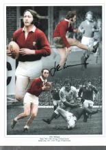 JPR Williams autographed rugby photo