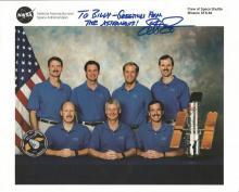 Steven Smith NASA Astronaut signed Space Shuttle mission crew 10 x 8 colour litho photo from NASA