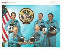 Loren Shriver NASA Astronaut signed Space Shuttle mission crew 10 x 8 colour litho photo from NASA