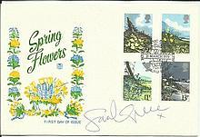 Sarah Greene signed 1979 Spring Flowers FDC Royal