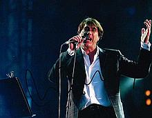 Bryan Ferry Signed 10 X 8 Signed music photo. Good