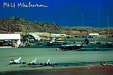 Mike Pearson Vulcan Bomber 12 X 8 signed photo.