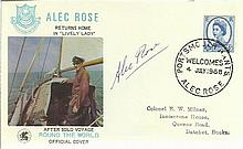 Alec Rose signed on his own 1968 Solo Round The