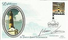 Naomi James signed Benham small Silk Lighthouses