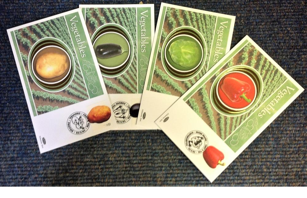 FDC collection of 4 Vegetables Benham covers BS229-238 various PM 25th March 2003. We combine