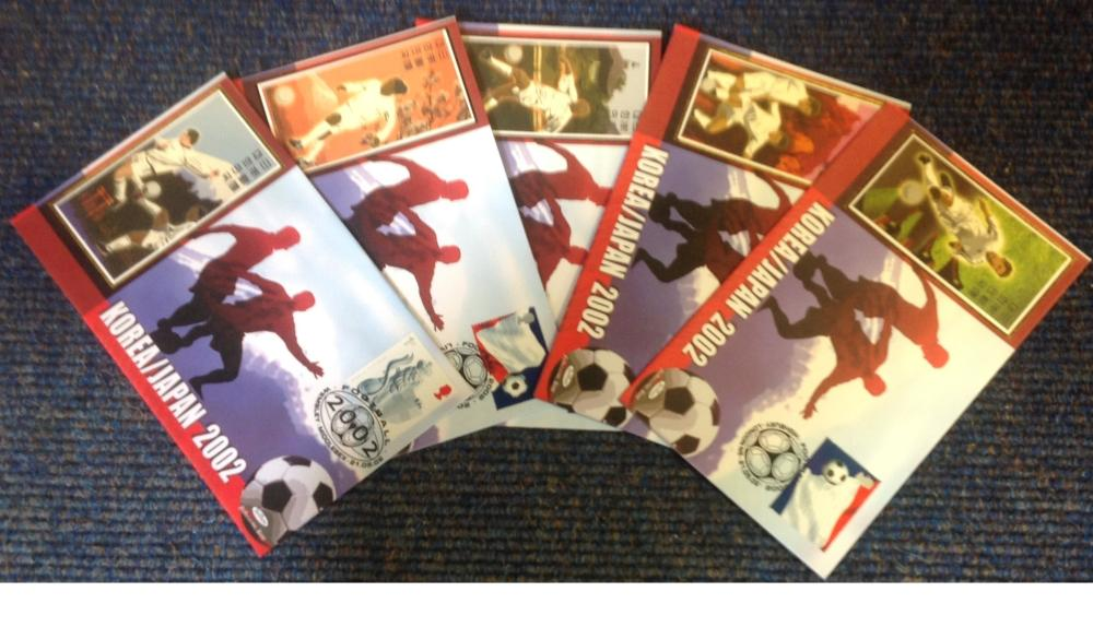 FDC collection of 5 Benham covers commemorating the 2002 World Cup in Korea and Japan various PM 21.
