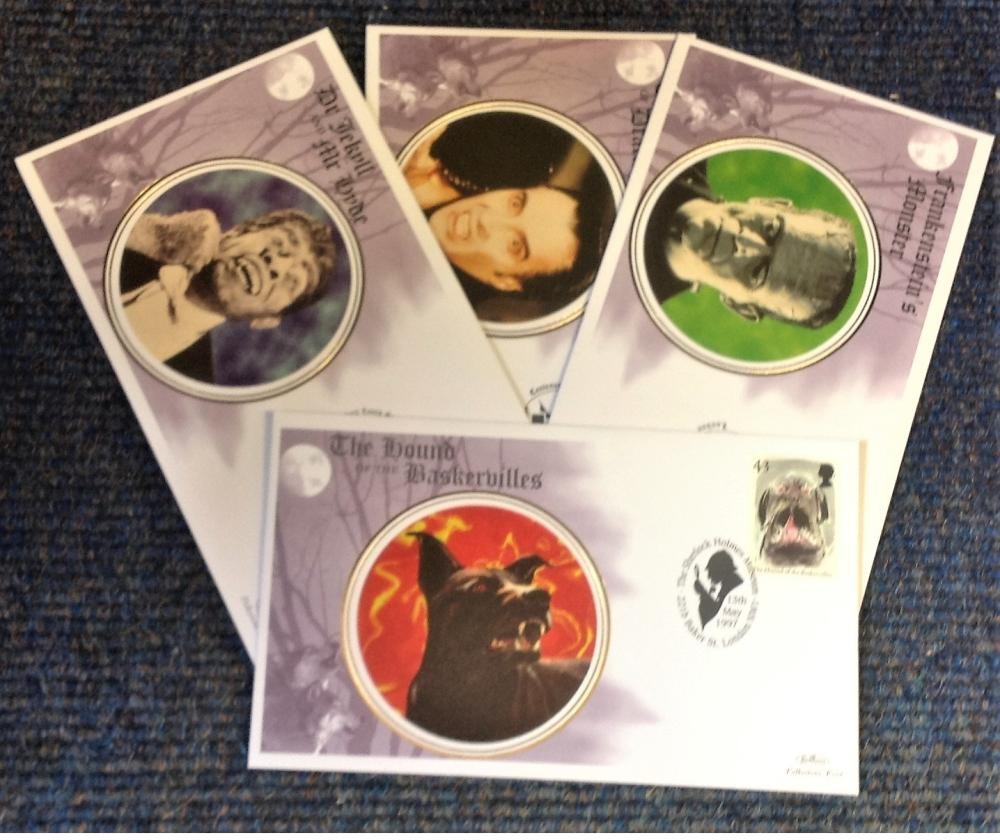 FDC collection of 4 Benham Silk covers Tales and Legends BS12-15 various PM 13th May 1997. We