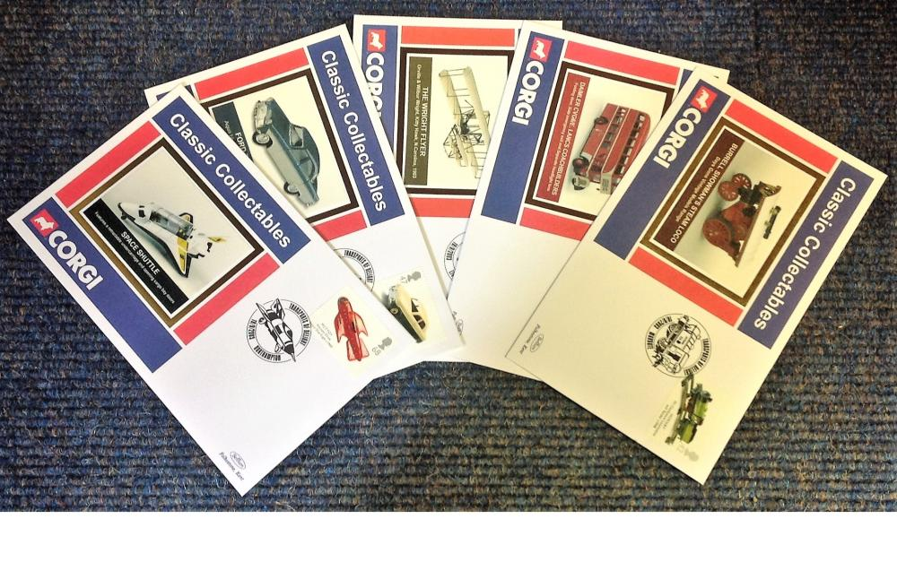 FDC collection of 5 Benham Classic Corgi Collectables covers full set BS270-274 various Transport of