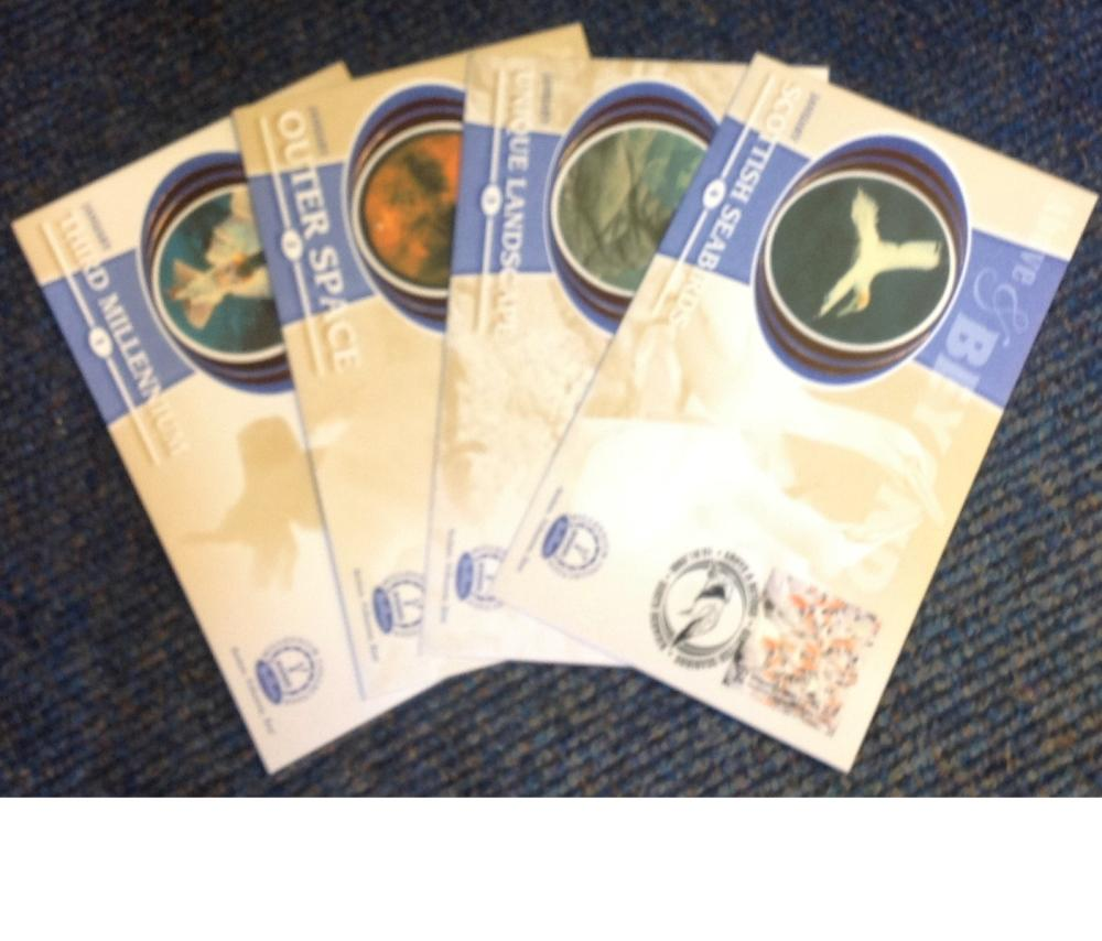FDC collection of 4 Benham Millennium collection of Above and Beyond covers BS1-4 various PM10.