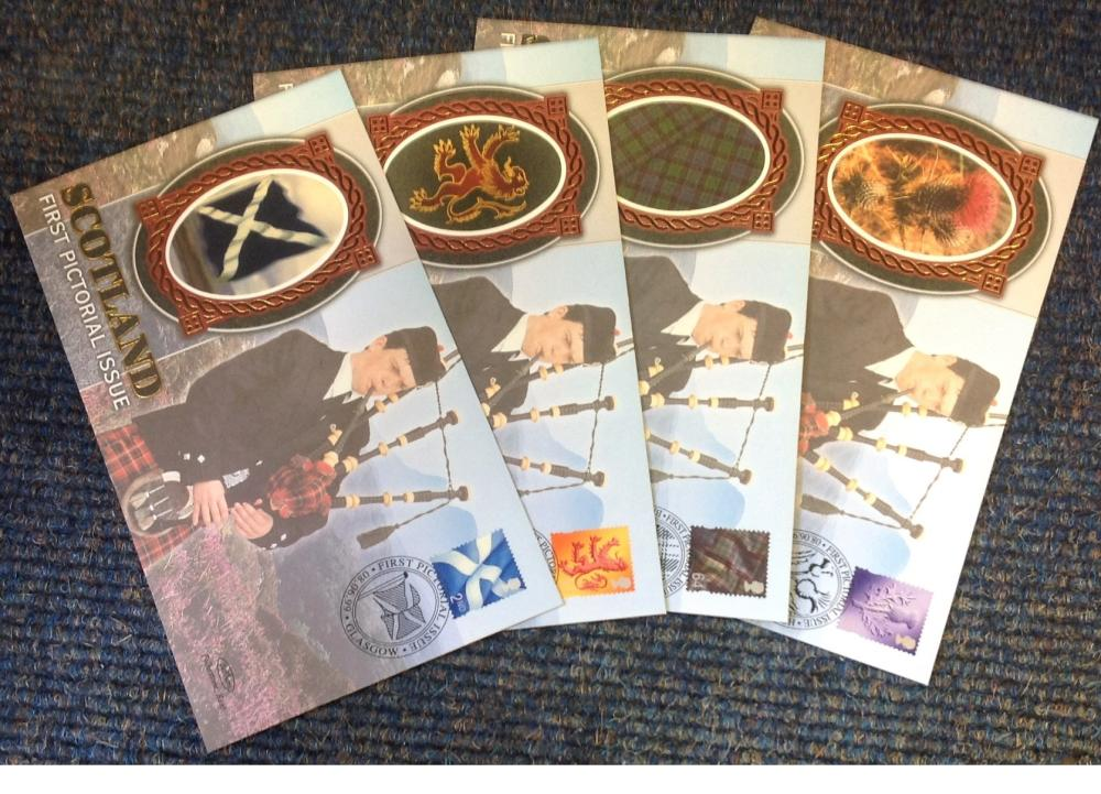 FDC collection of 4 Benham covers Scotland First Pictorial Issue BS12-15 limited edition various