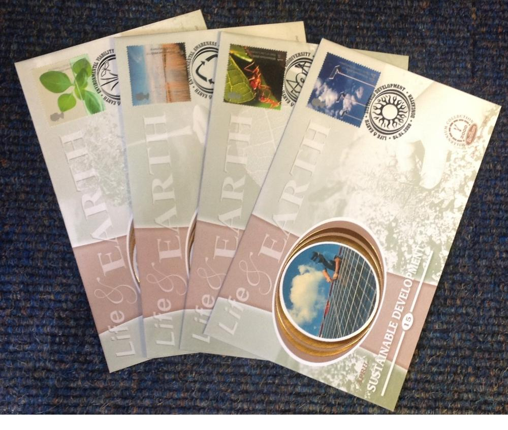 FDC collection of 4 Benham covers Millennium collection of Life and Earth full set limited edition