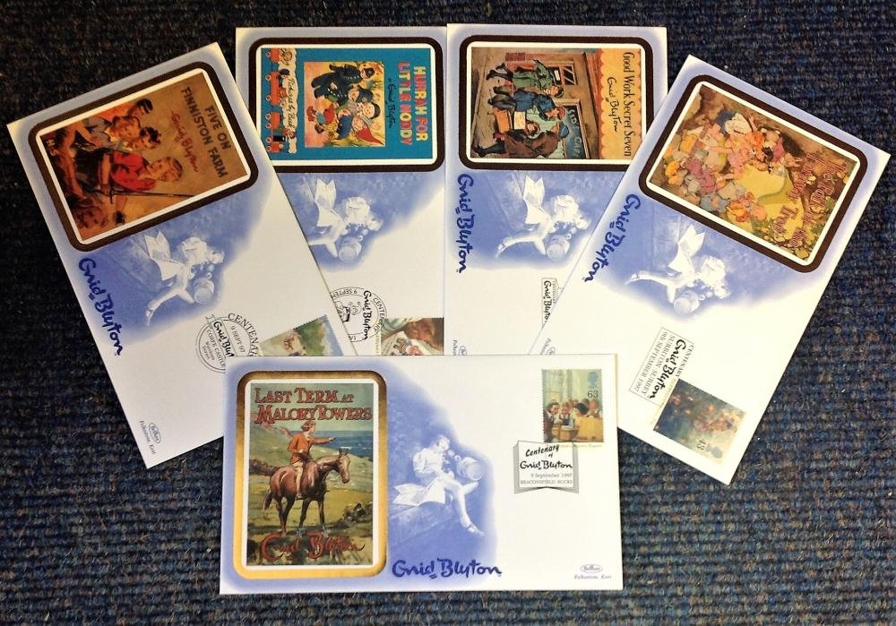 FDC collection of 5 Benham covers commemorating Enid Blyton full set limited edition BS29-33 various