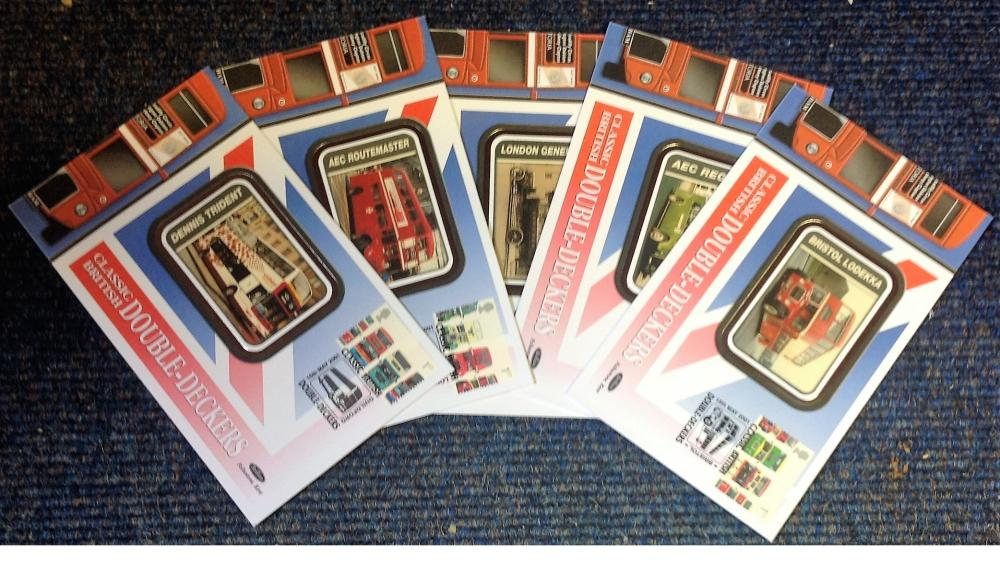 FDC collection of 5 Benham covers BUSES special stamps BS76-80 various PM 15th May 2001. We