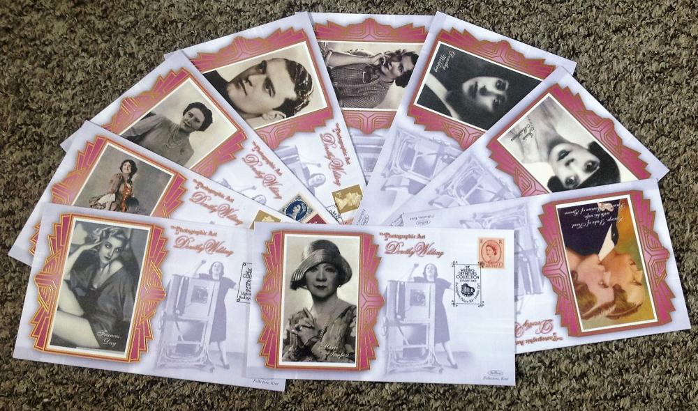 FDC collection of 9 Benham silk covers full set Dorothy Wilding BS SP 88-96 limited to 5000 editions