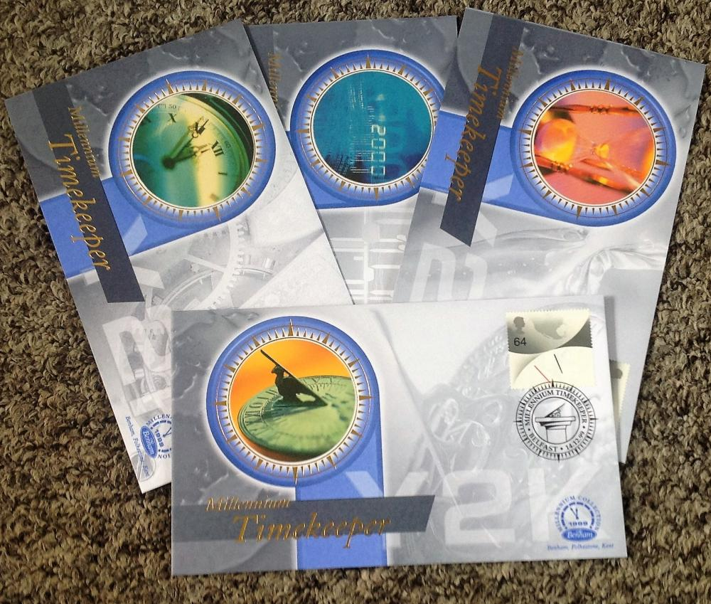 FDC collection of 4 Benham covers Millennium collection of set of four Millennium Timekeeper BS