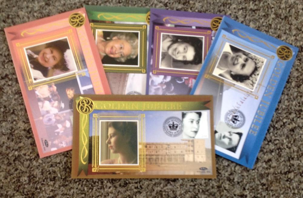 FDC collection of 5 Benham covers HM The Queen's Golden Jubilee set of 5 covers BS120-124 PM 6th Feb