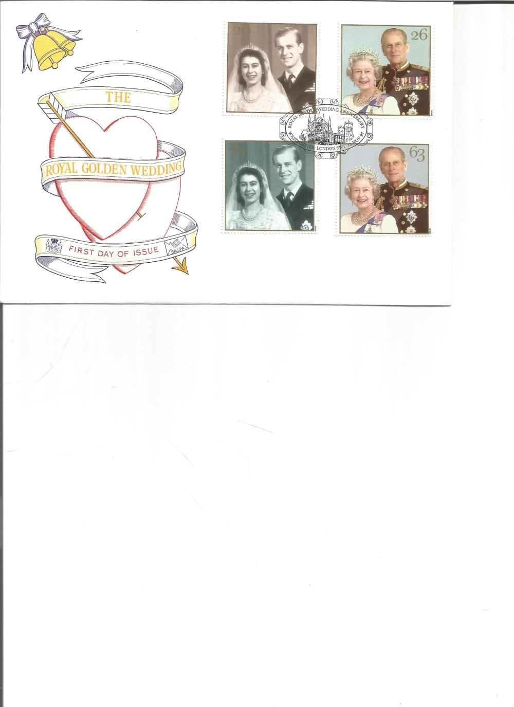 FDC The Royal Golden Wedding c/w set of four stamps PM Royal Golden Wedding Anniversary,