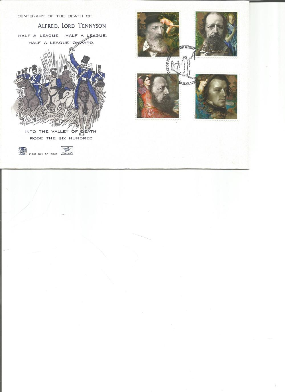 FDC Centenary of the Death of Alfred Lord Tennyson , Half A League, Half a League , Half a League