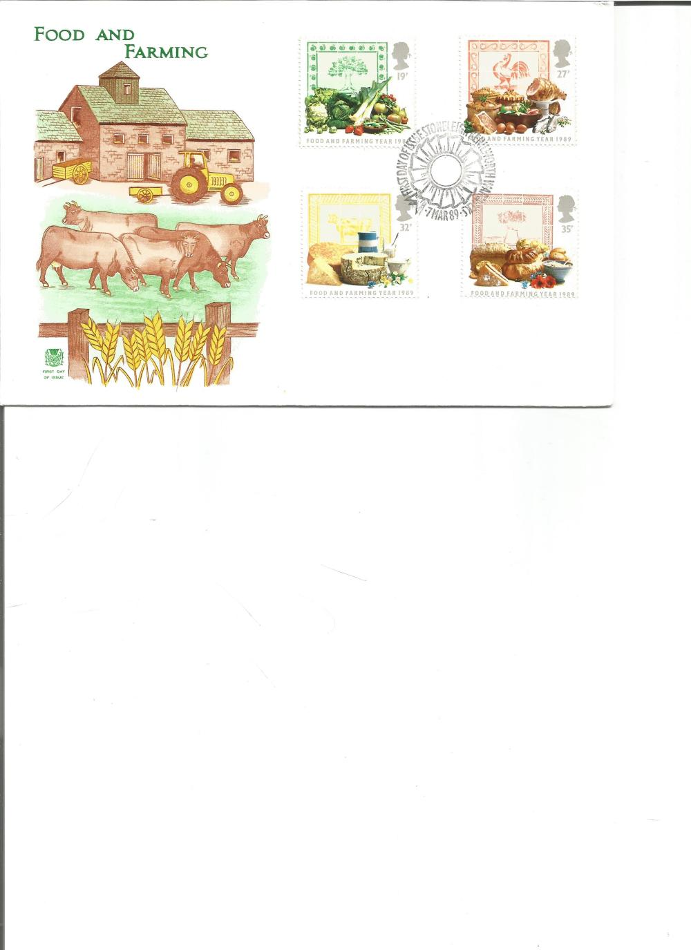 FDC Food and Farming c/w set of four commemorative stamps PM First Day of Issue Stoneleigh,
