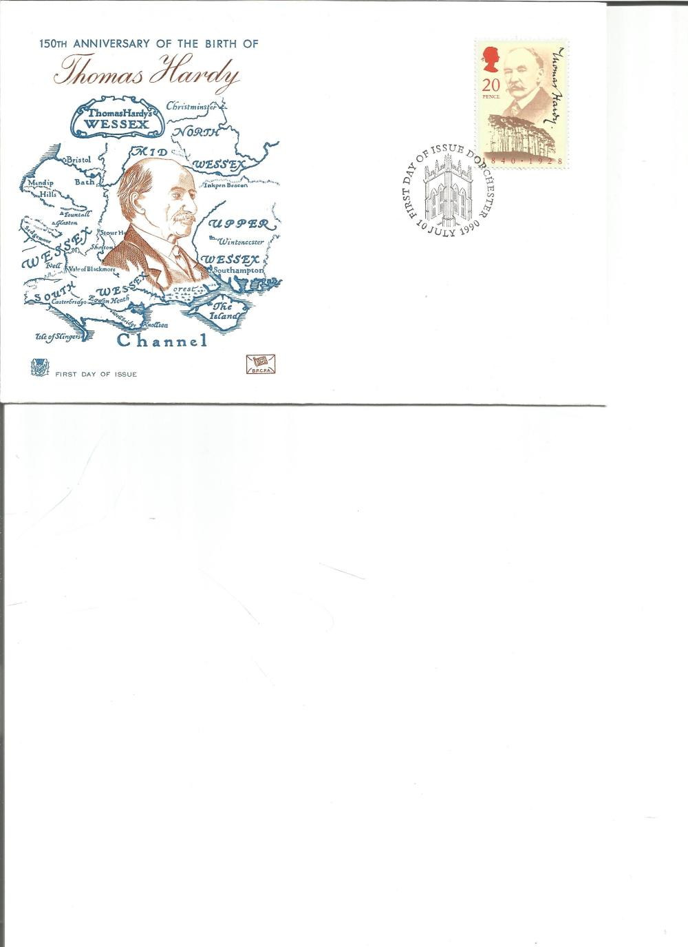FDC 150th Anniversary of the Birth of Thomas Hardy PM First Day of Issue Dorchester 10th July