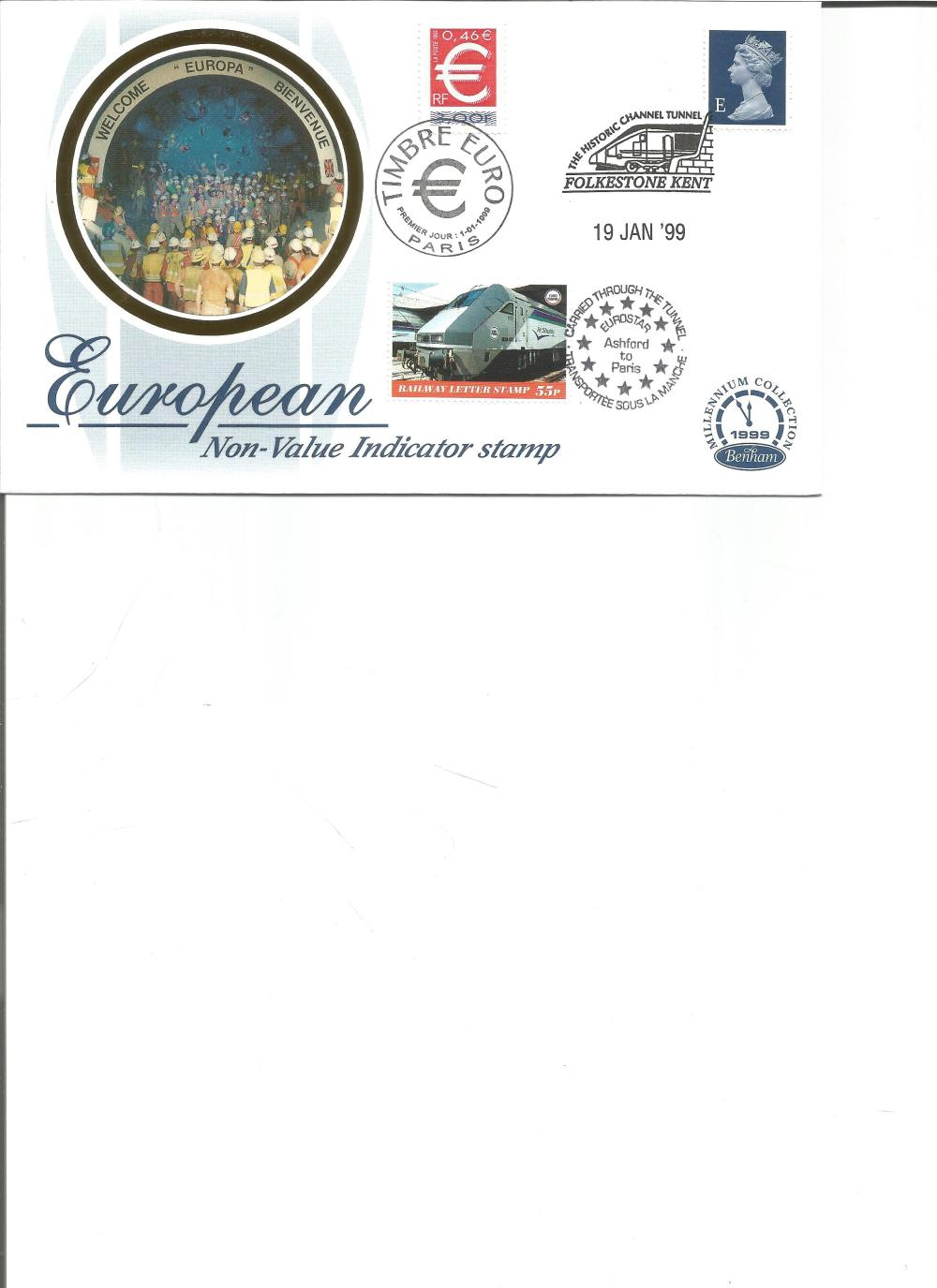 FDC Benham Silk Cover 30p European NVI stamp booklet limited to 5 000 editions BSSP4 PM 19th Jan