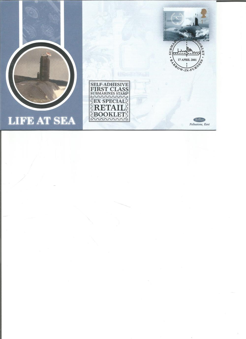 FDC Benham Silk Life at Sea Submarines Retail Booklet BSSP57 PM 17th April 2001. We combine