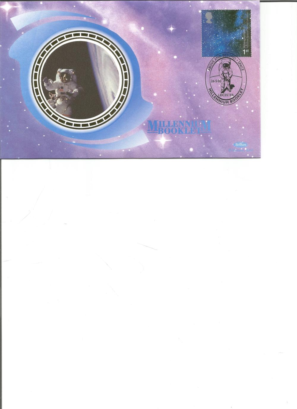 FDC Benham Millennium Booklet National Space Science Centre NVI BSSP46 PM Leicester 26. 5. 00. We