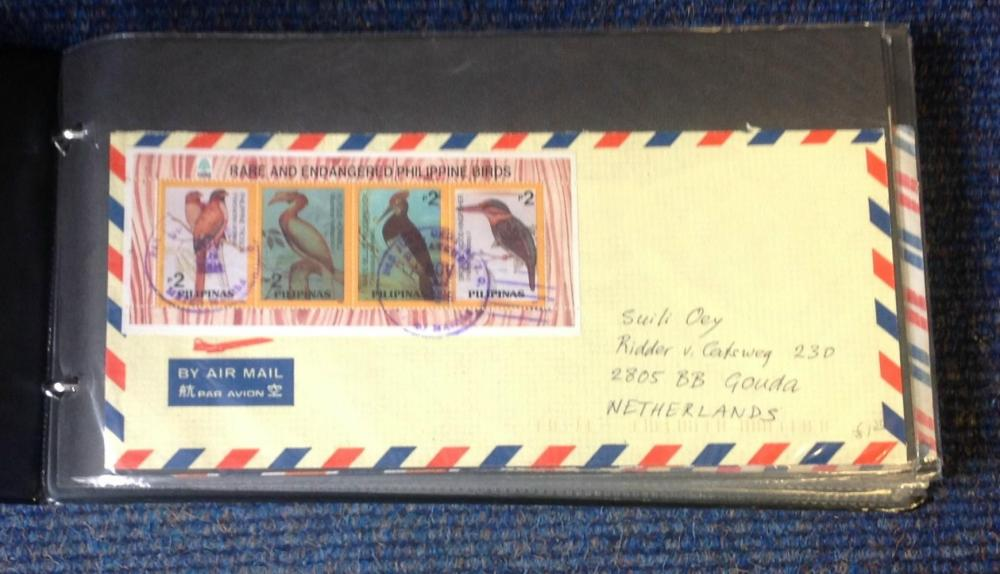 Worldwide Air Mail collection includes over 40 items from around the world include handwritten
