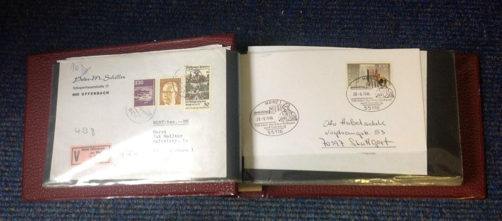 German Envelope and Postcard collection over 40 items typed, handwritten and mint from around