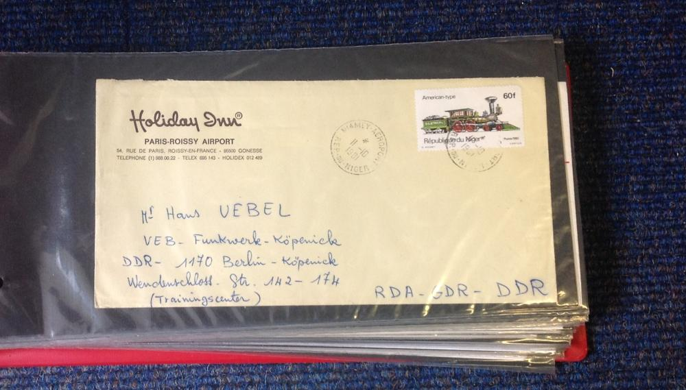 German air mail collection includes over 40 envelopes typed and handwritten from around Germany