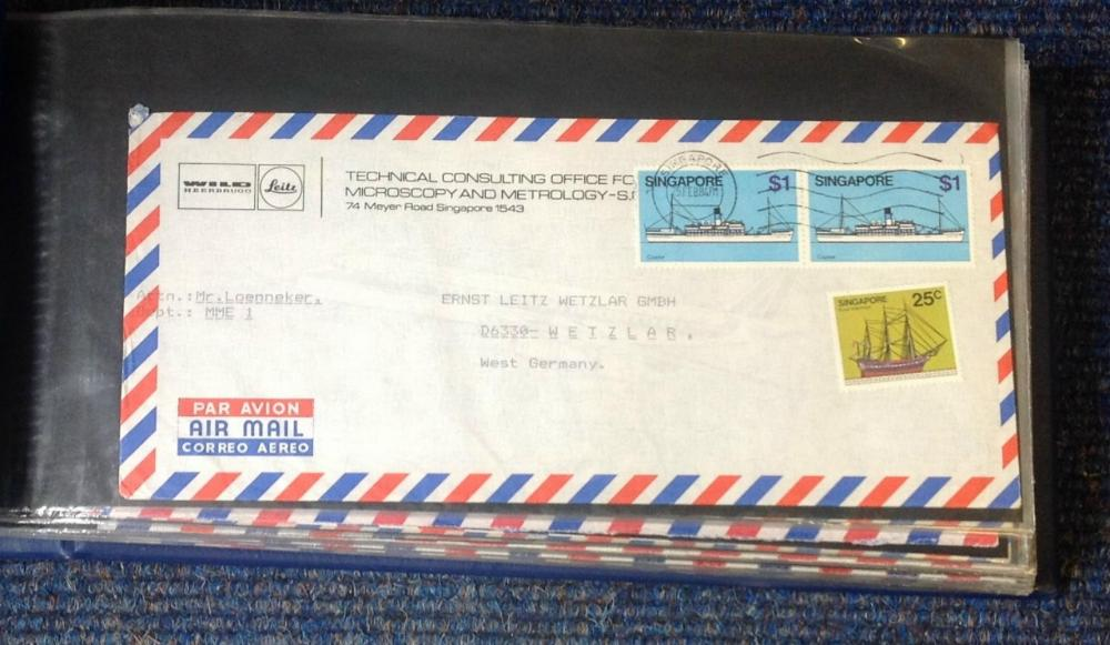 German air mail collection includes over 90 envelopes typed address from around Germany dating
