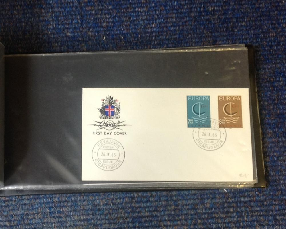 European FDC collection includes over 40 covers typed and handwritten address some mint countries